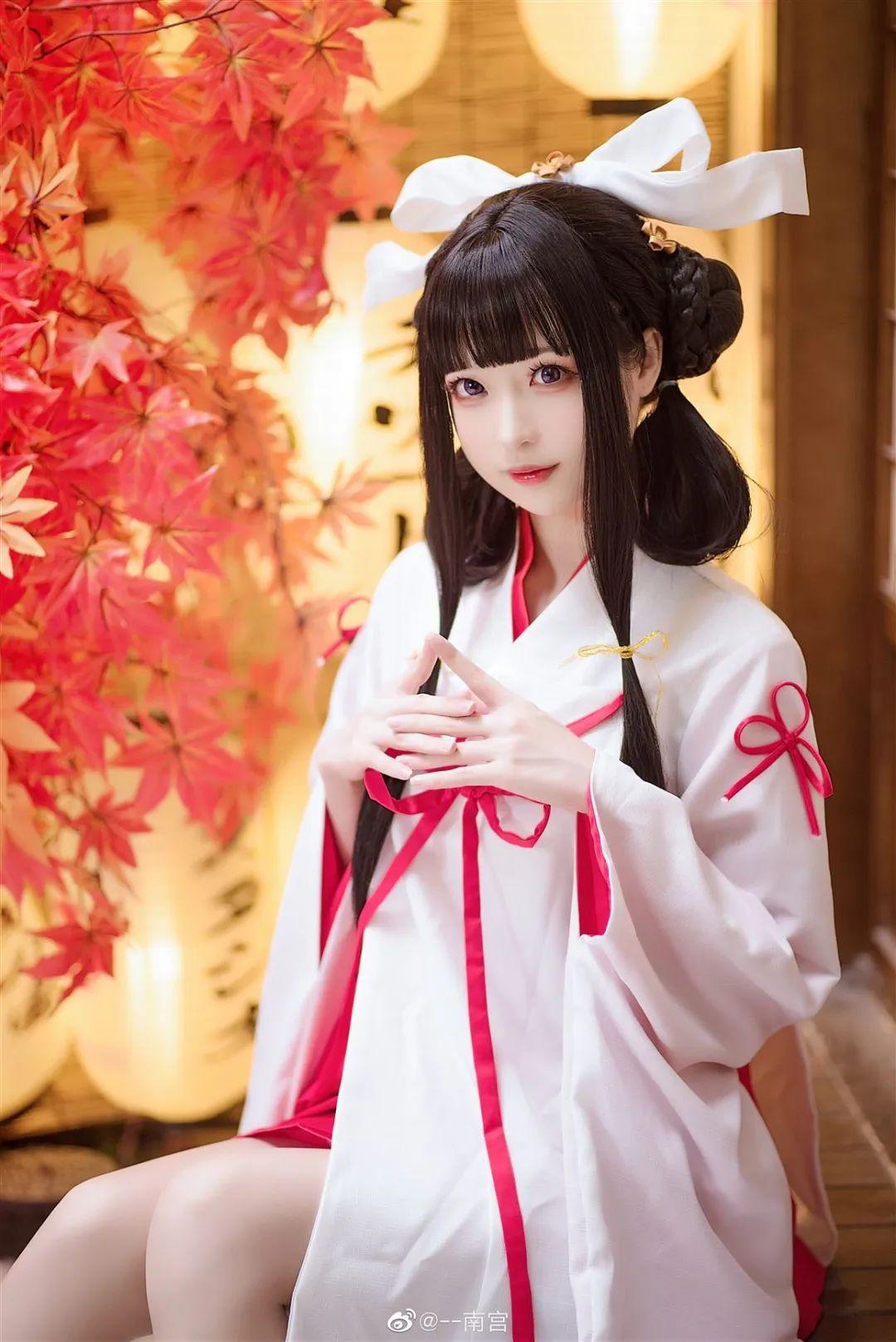 Cosplay—《双生视界》菊理千姬,甜美和服完美演绎!_图片 No.7