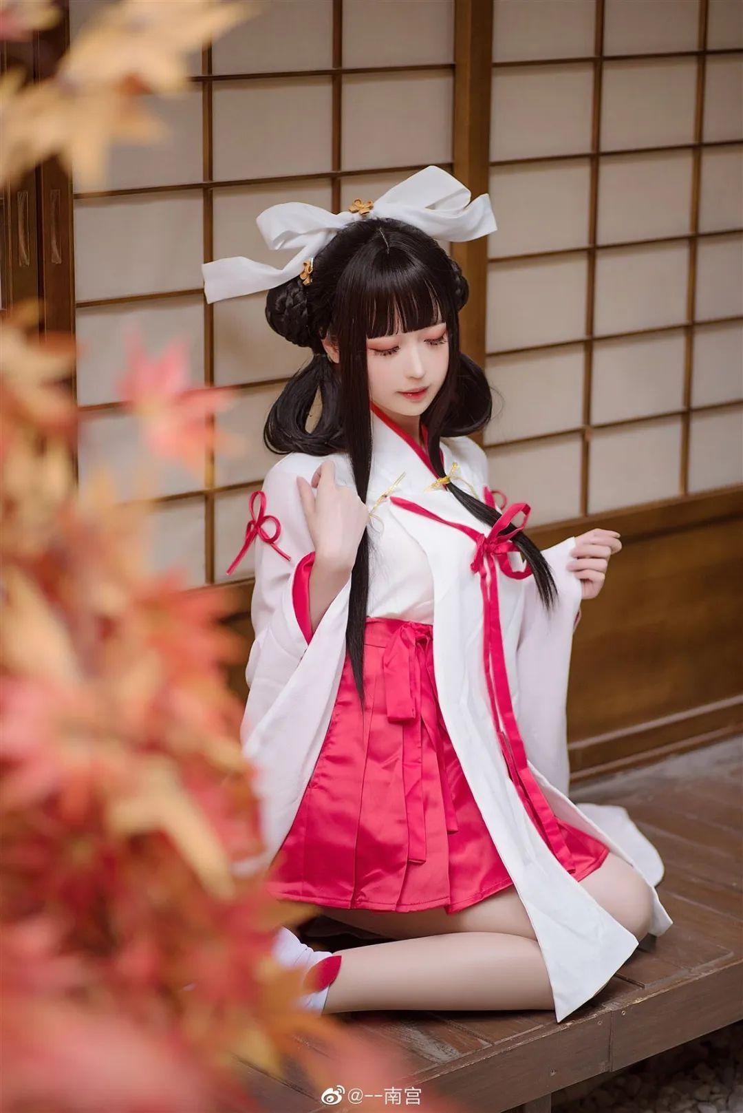 Cosplay—《双生视界》菊理千姬,甜美和服完美演绎!_图片 No.8