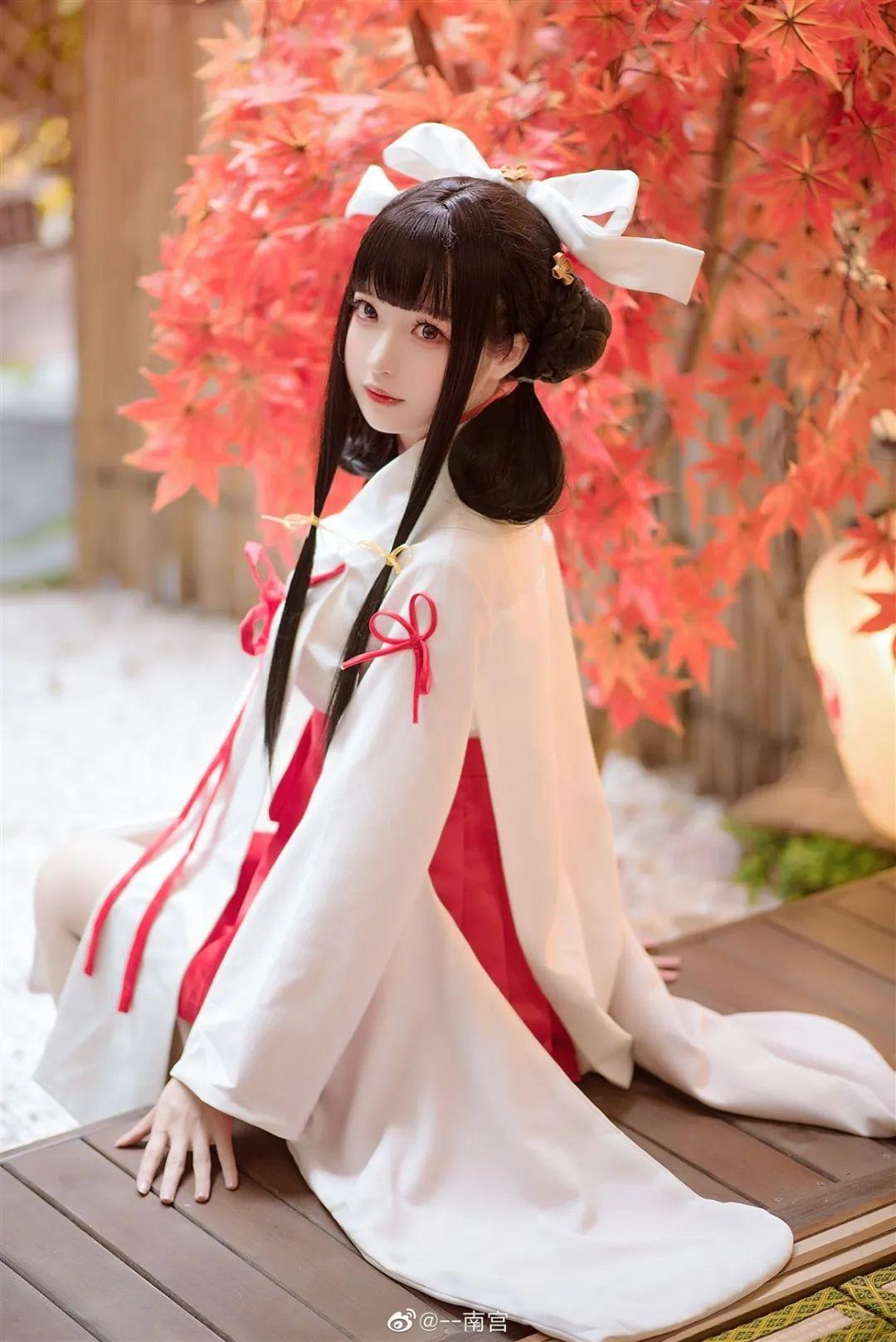 Cosplay—《双生视界》菊理千姬,甜美和服完美演绎!_图片 No.9