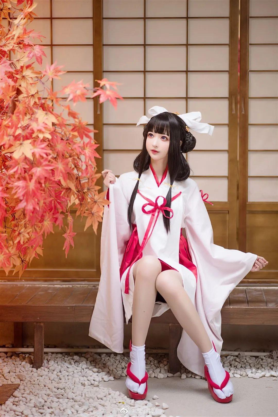 Cosplay—《双生视界》菊理千姬,甜美和服完美演绎!_图片 No.10