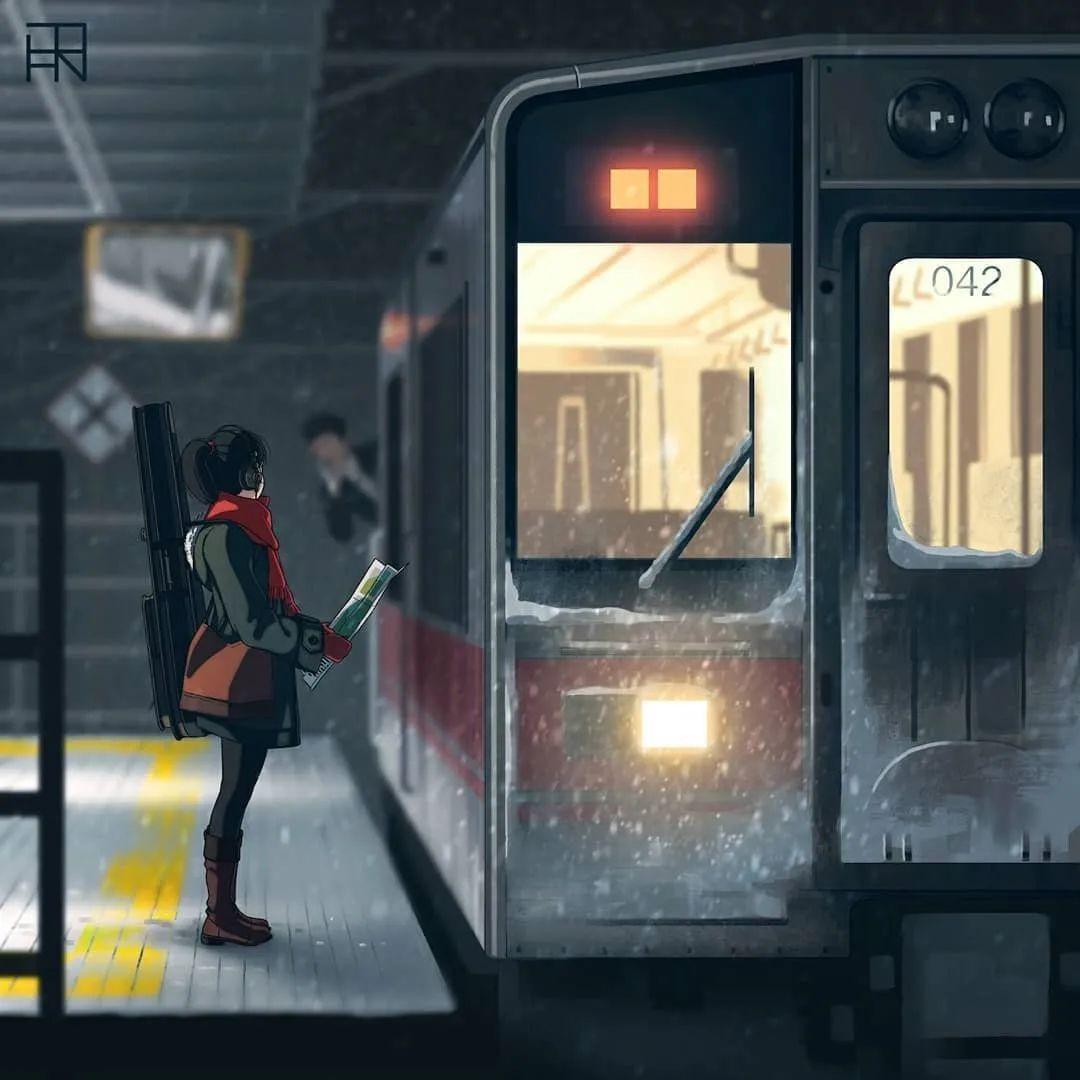 4月17日,P站二次元美图!一个旅行的少女_图片 No.1
