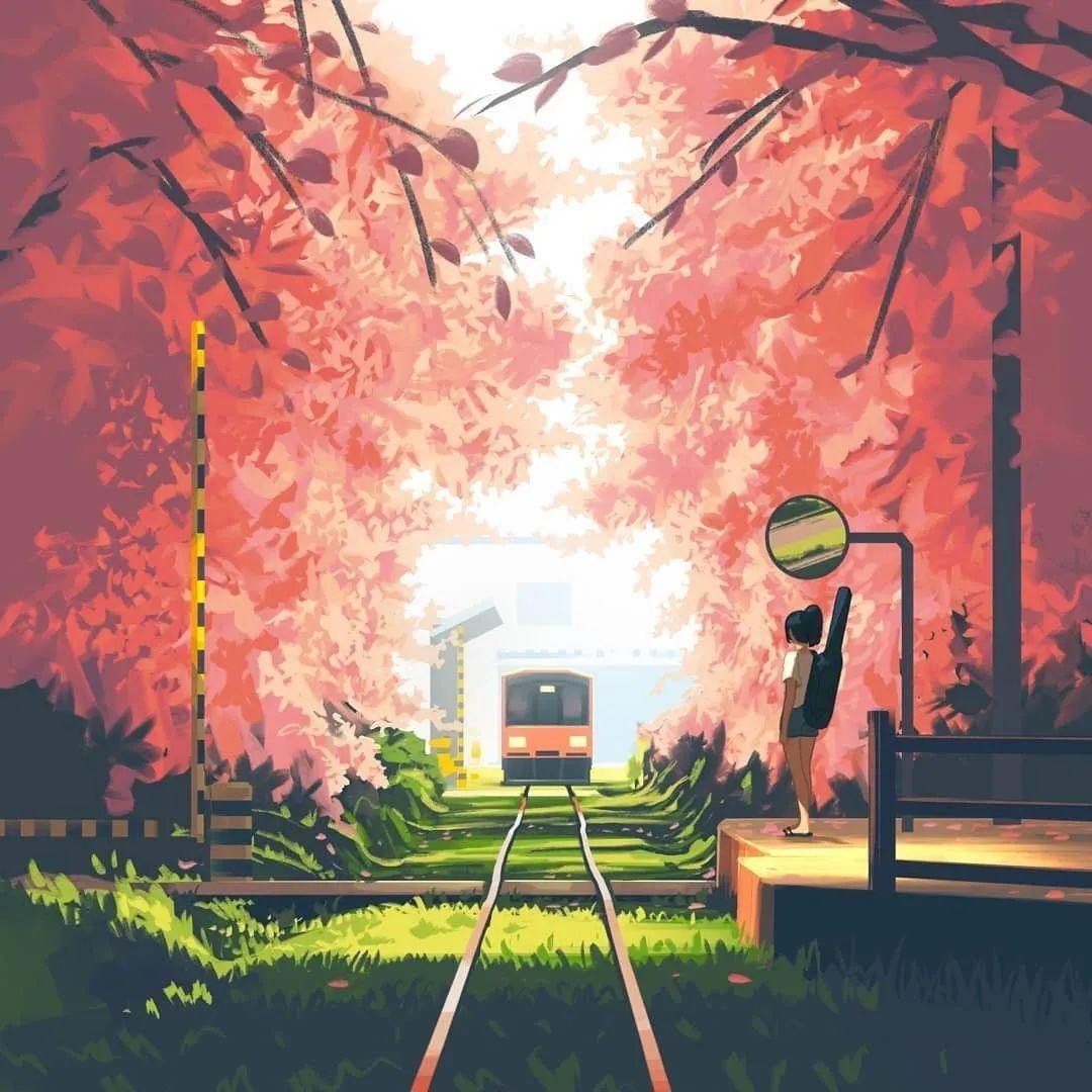 4月17日,P站二次元美图!一个旅行的少女_图片 No.6