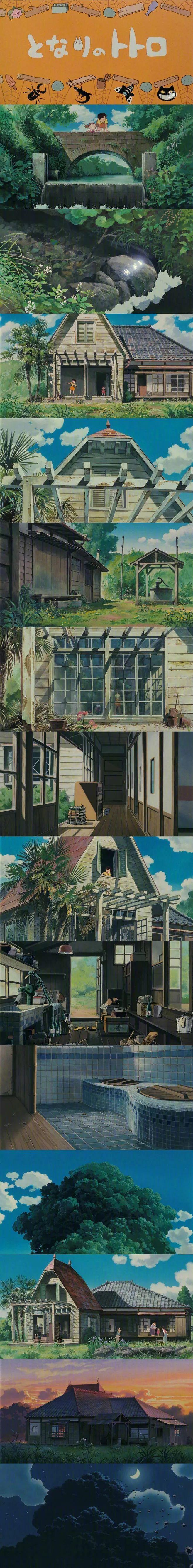 宫崎骏的动画世界 壁纸特辑,人间真有这些地方就好了!_图片 No.1