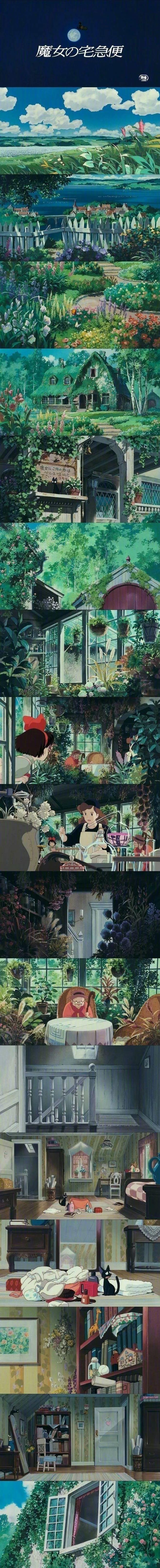 宫崎骏的动画世界 壁纸特辑,人间真有这些地方就好了!_图片 No.3