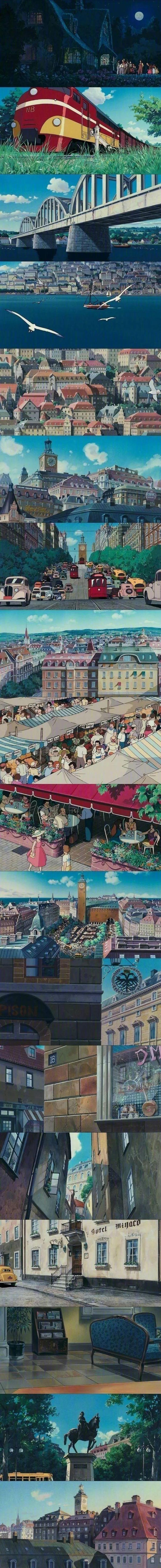 宫崎骏的动画世界 壁纸特辑,人间真有这些地方就好了!_图片 No.4