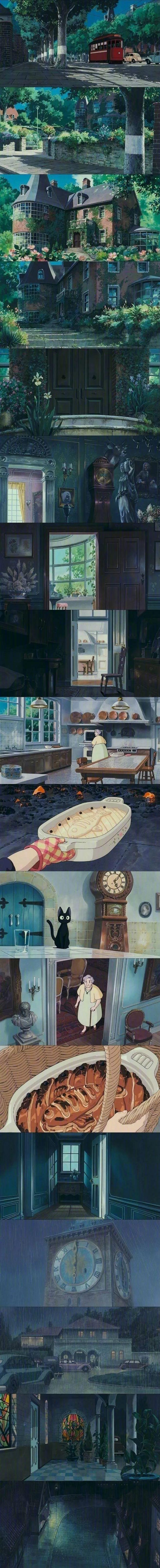 宫崎骏的动画世界 壁纸特辑,人间真有这些地方就好了!_图片 No.6