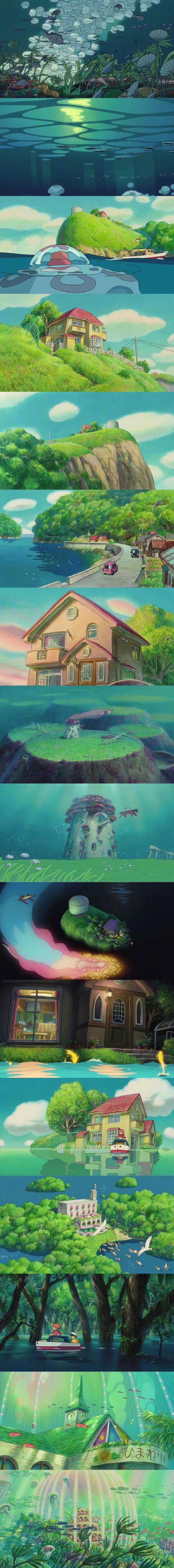 宫崎骏的动画世界 壁纸特辑,人间真有这些地方就好了!_图片 No.7