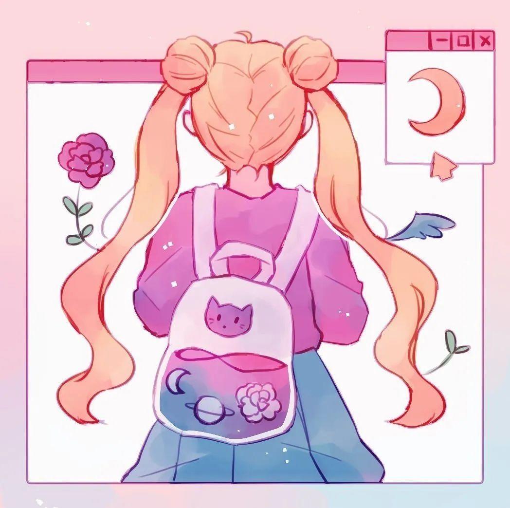 4月19日,P站二次元美图!画师Ins acatcie作品,粉色少女可可爱爱_图片 No.6