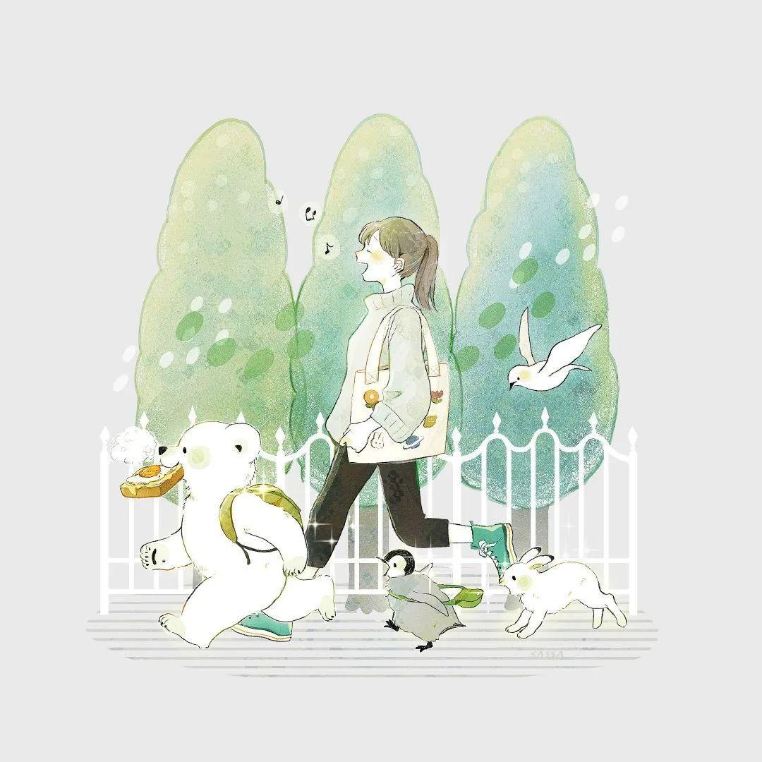 4月19日,P站二次元美图!画师Ins acatcie作品,粉色少女可可爱爱_图片 No.11