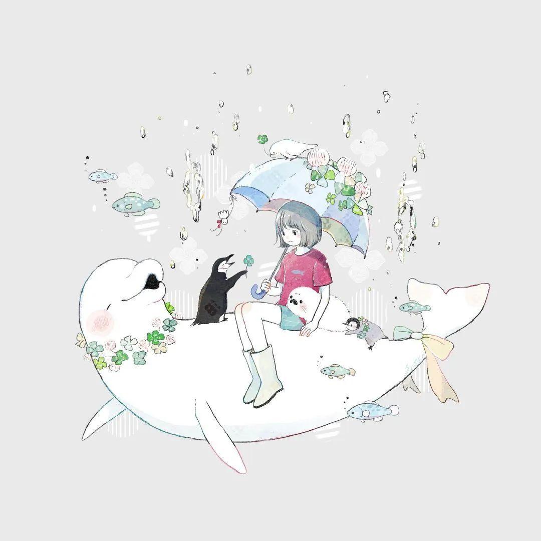 4月19日,P站二次元美图!画师Ins acatcie作品,粉色少女可可爱爱_图片 No.12