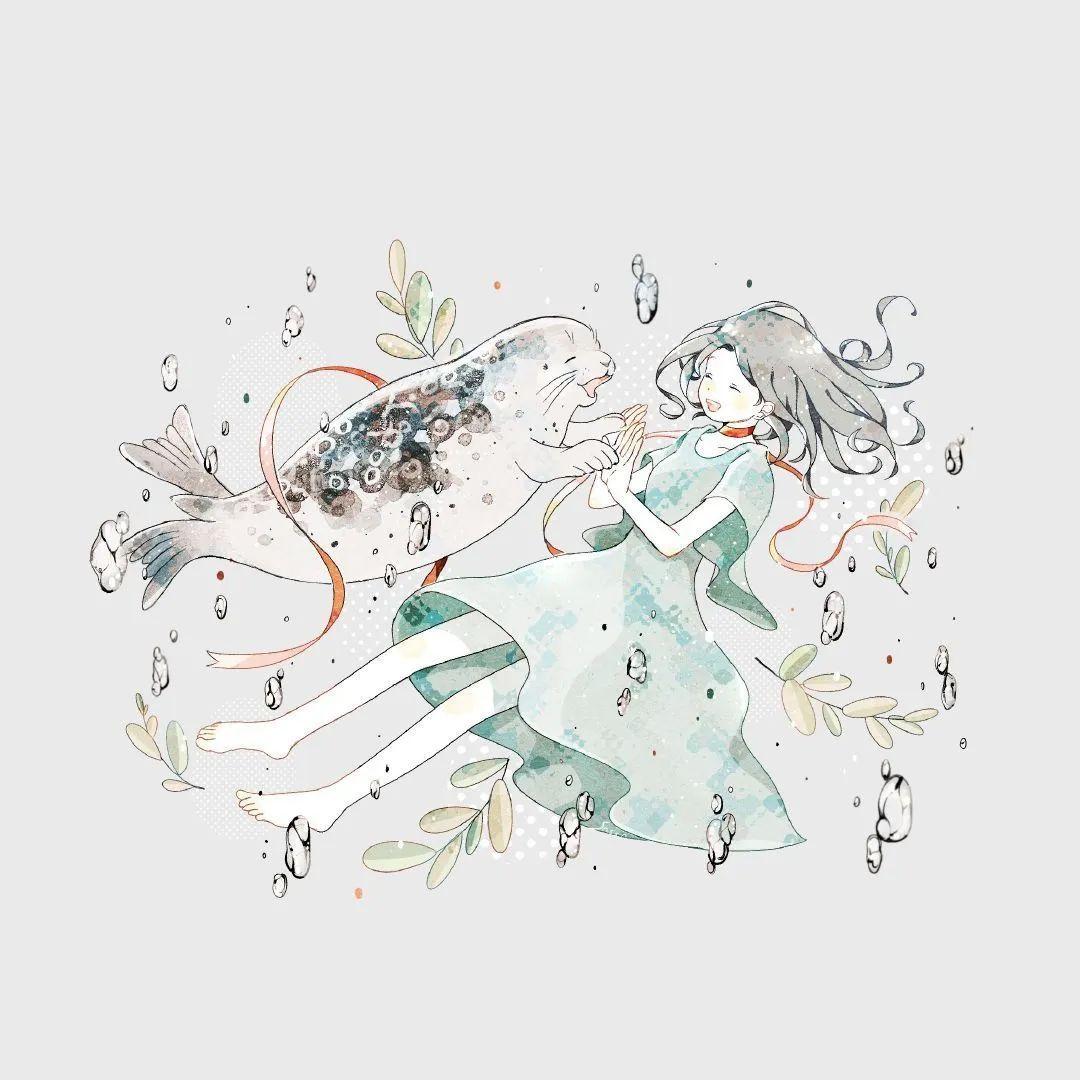 4月19日,P站二次元美图!画师Ins acatcie作品,粉色少女可可爱爱_图片 No.17