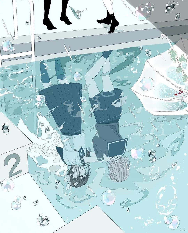 4月19日,P站二次元美图!画师Ins acatcie作品,粉色少女可可爱爱_图片 No.31