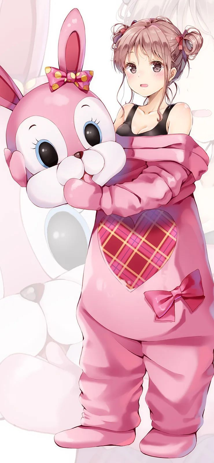 【二次元动漫壁纸集】蓝色连衣裙少女怀抱猫猫,羡慕啊_图片 No.5