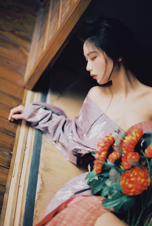 妹子摄影   穿着和服香肩露的仕女 - [leimu486.com] No.5