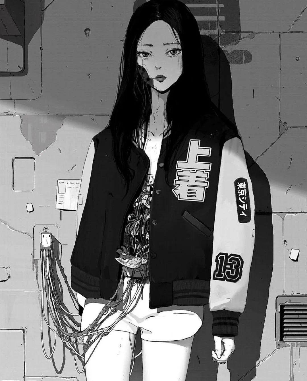 4月21日,二次元美图!少女的黑色美甲好A哟_图片 No.24