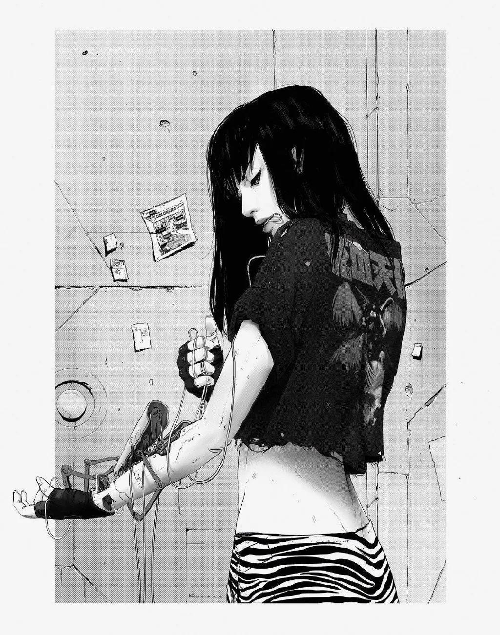 4月21日,二次元美图!少女的黑色美甲好A哟_图片 No.28