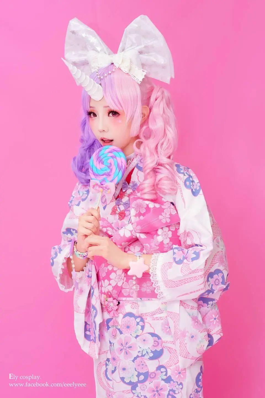 妹子摄影 – 头戴弯牛角的和服小姐姐_图片 No.8