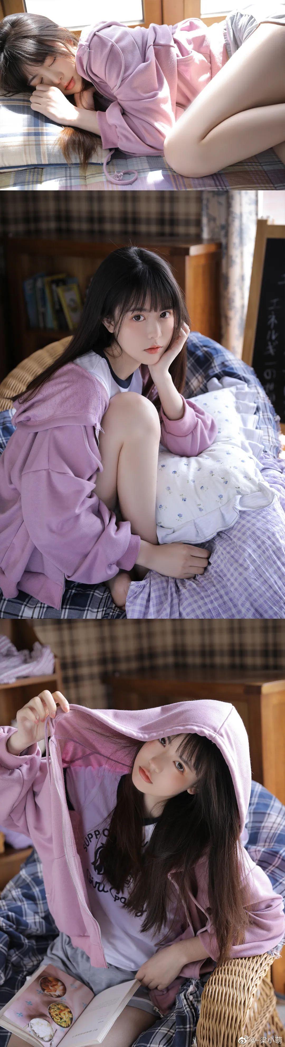 妹子摄影 – 带着娇嗔表情的丝袜美腿少女_图片 No.8