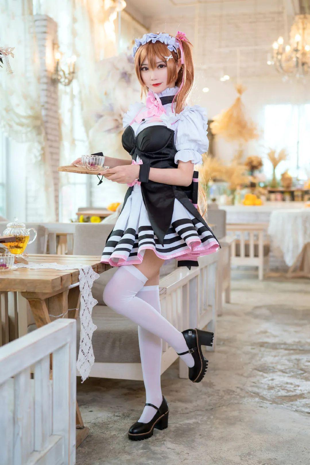 妹子摄影 – 白丝袜细腿 水手服元气少女_图片 No.5