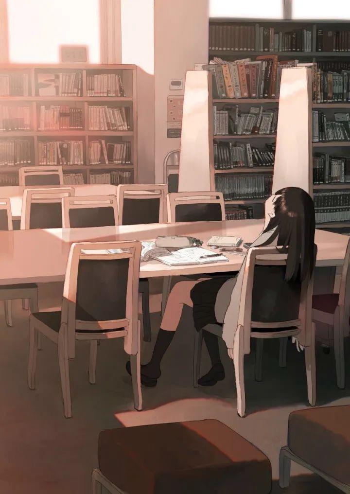 P站动漫美图推荐——图书馆与少女 特辑(二)_图片 No.7