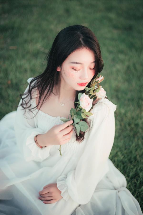 妹子摄影 – 森系纱裙女神_图片 No.6