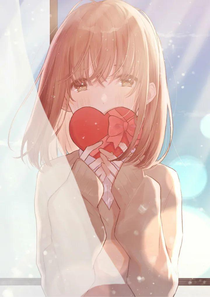 P站美图推荐——巧克力与少女特辑,心形最为致命_图片 No.6