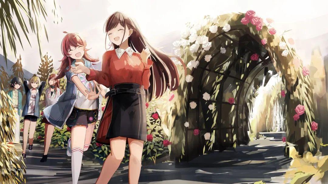 5月6日,二次元美图!透明伞横放挡水花的可人少女_图片 No.24