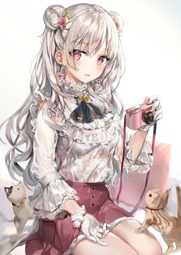 P站美图推荐——猫与少女特辑(二)_图片 No.7