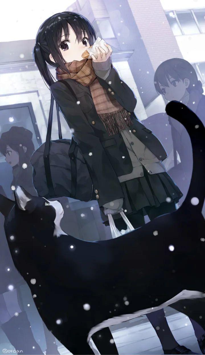 P站美图推荐——猫与少女特辑(二)_图片 No.8