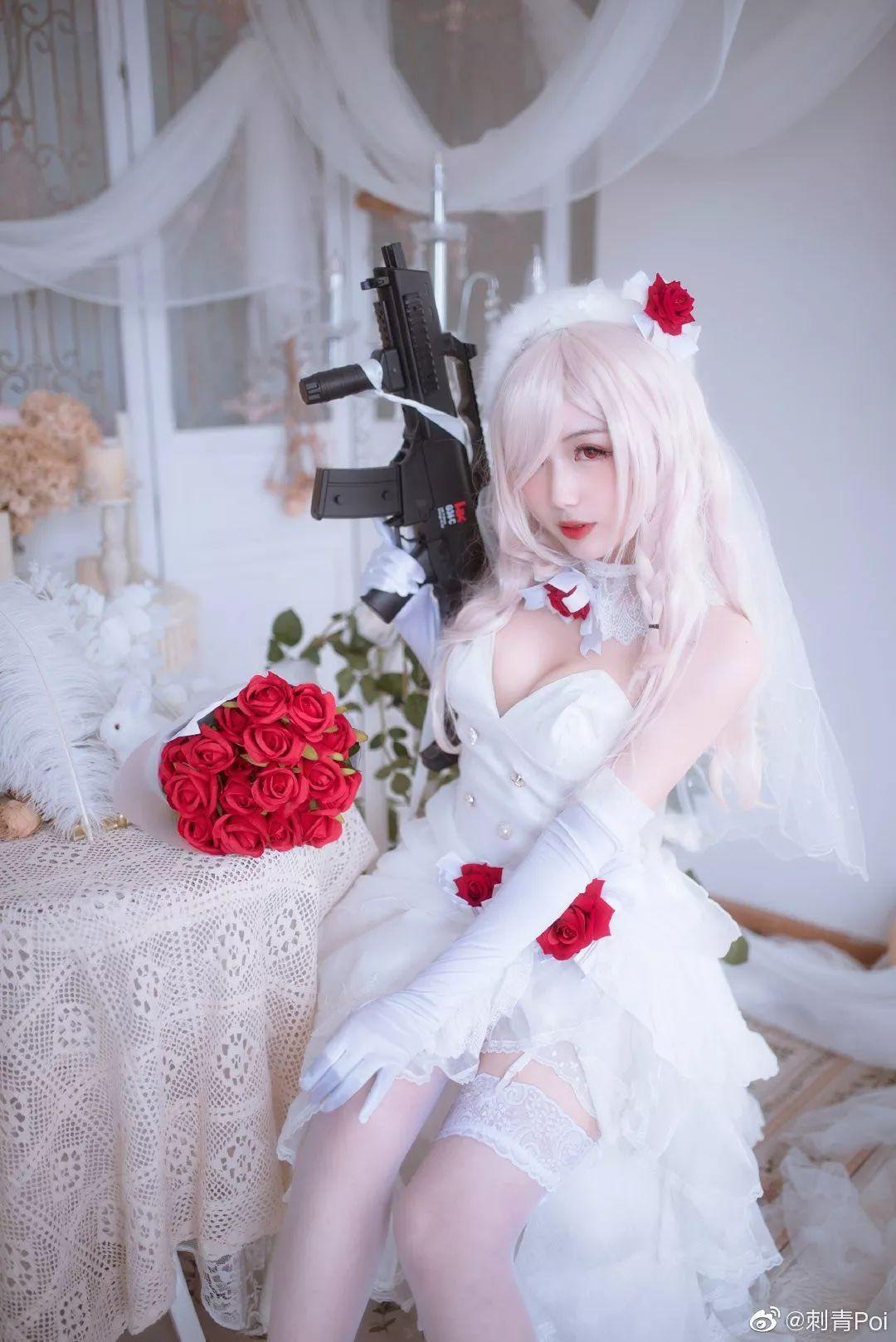 cosplay – 《少女前线》白丝花嫁G36C_图片 No.2