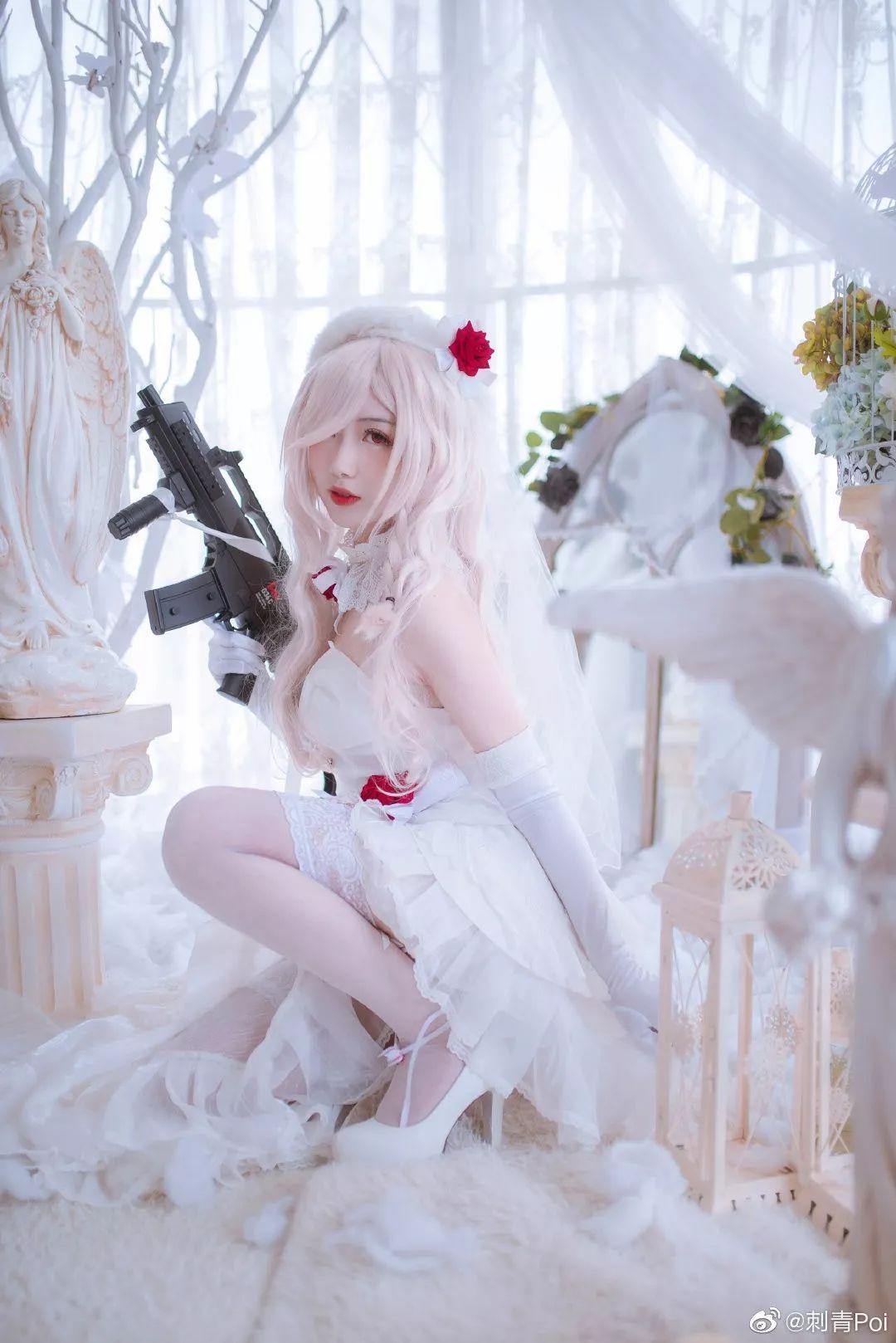 cosplay – 《少女前线》白丝花嫁G36C_图片 No.3
