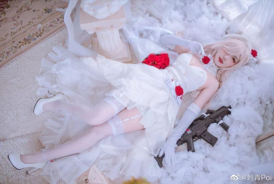 cosplay – 《少女前线》白丝花嫁G36C_图片 No.5