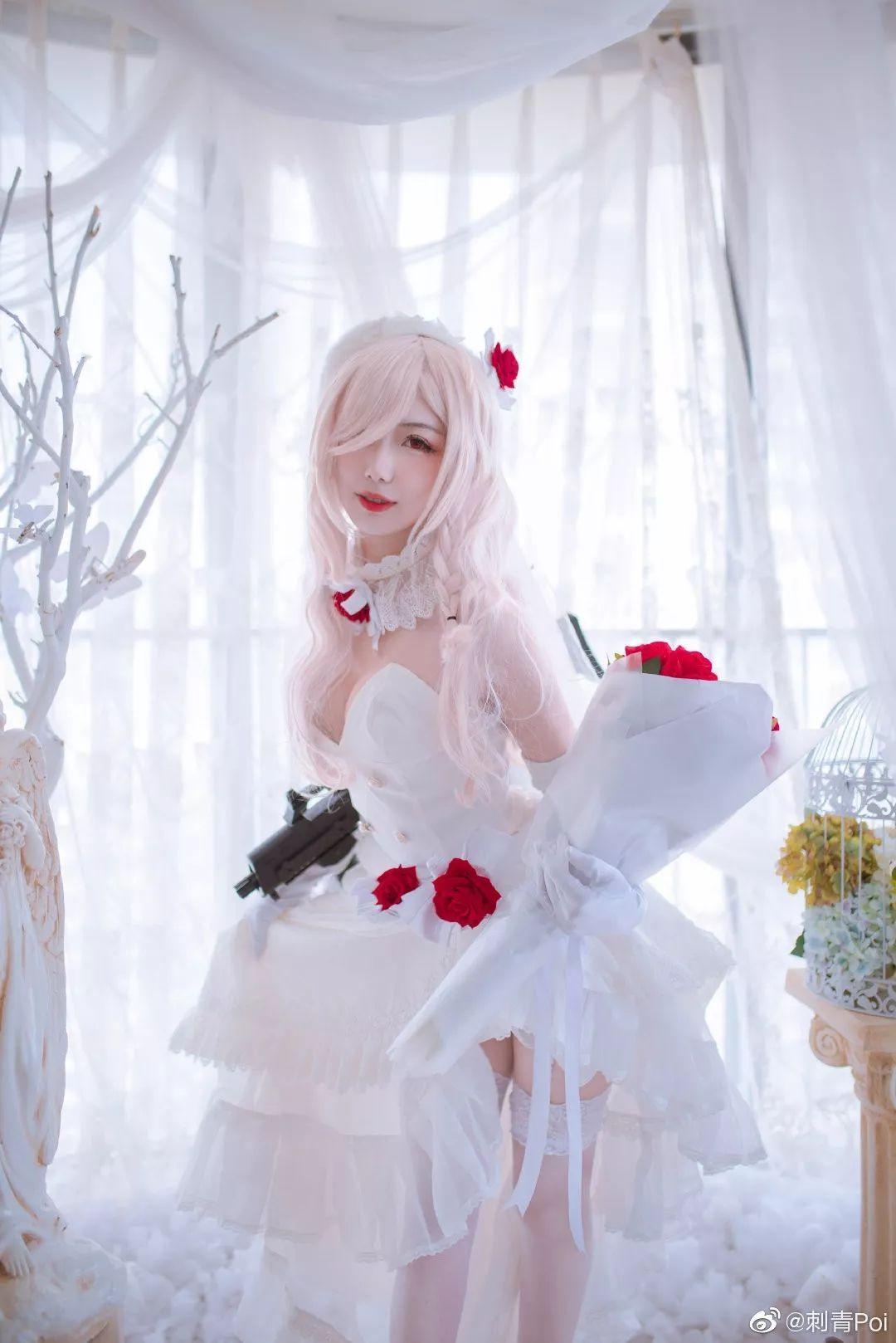 cosplay – 《少女前线》白丝花嫁G36C_图片 No.6