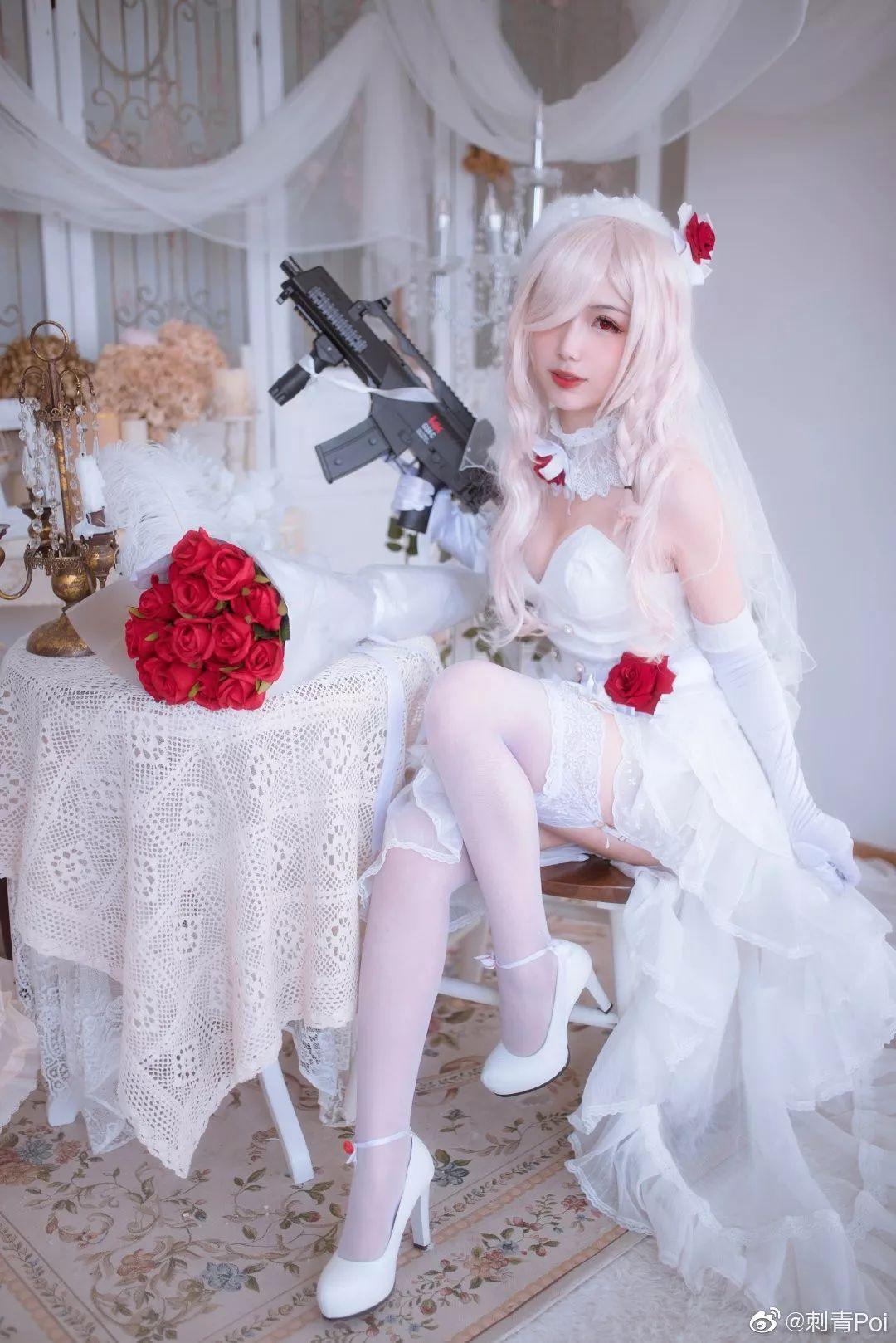 cosplay – 《少女前线》白丝花嫁G36C_图片 No.8