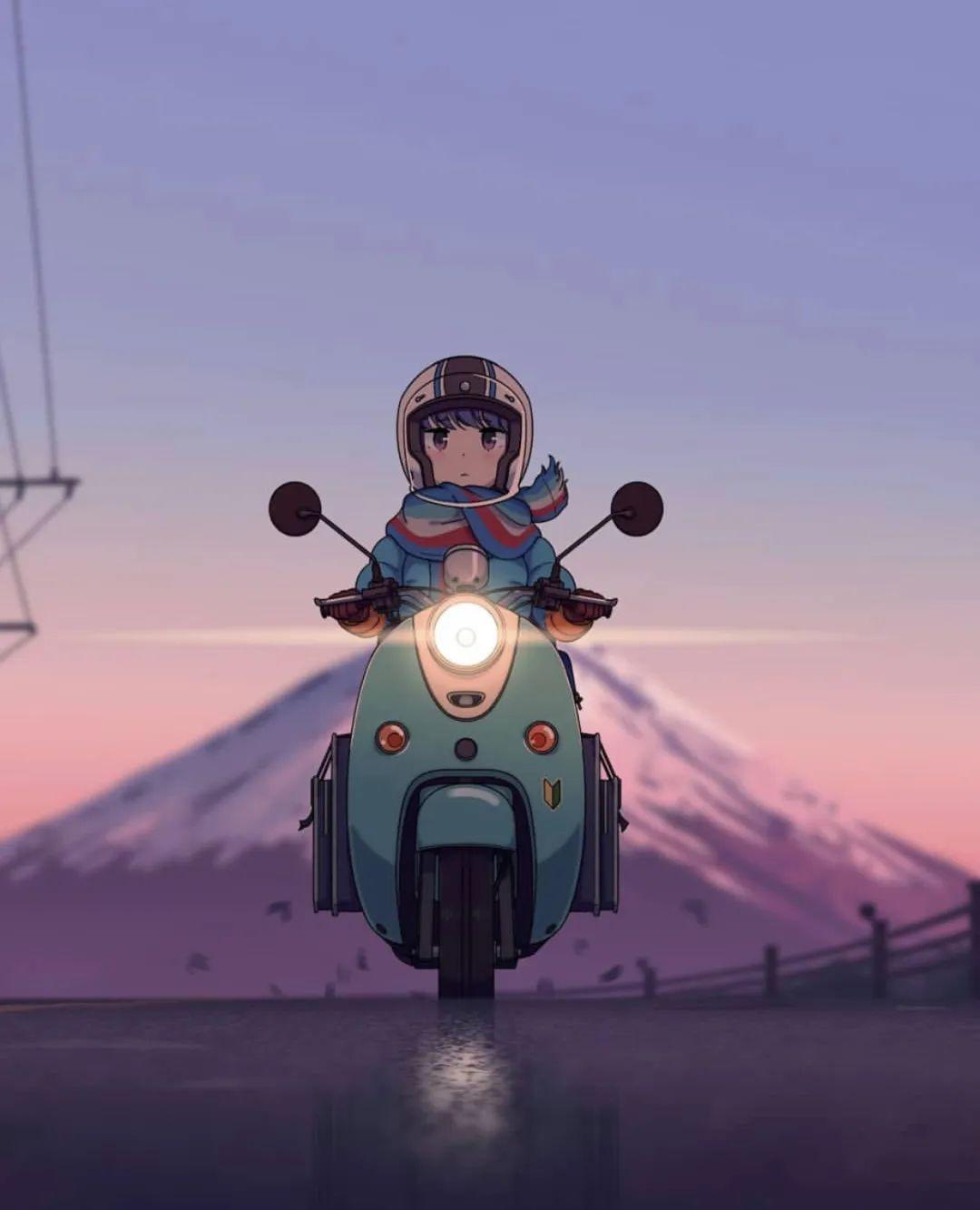 5月8日,二次元动漫女孩美图!骑摩托的少女_图片 No.3