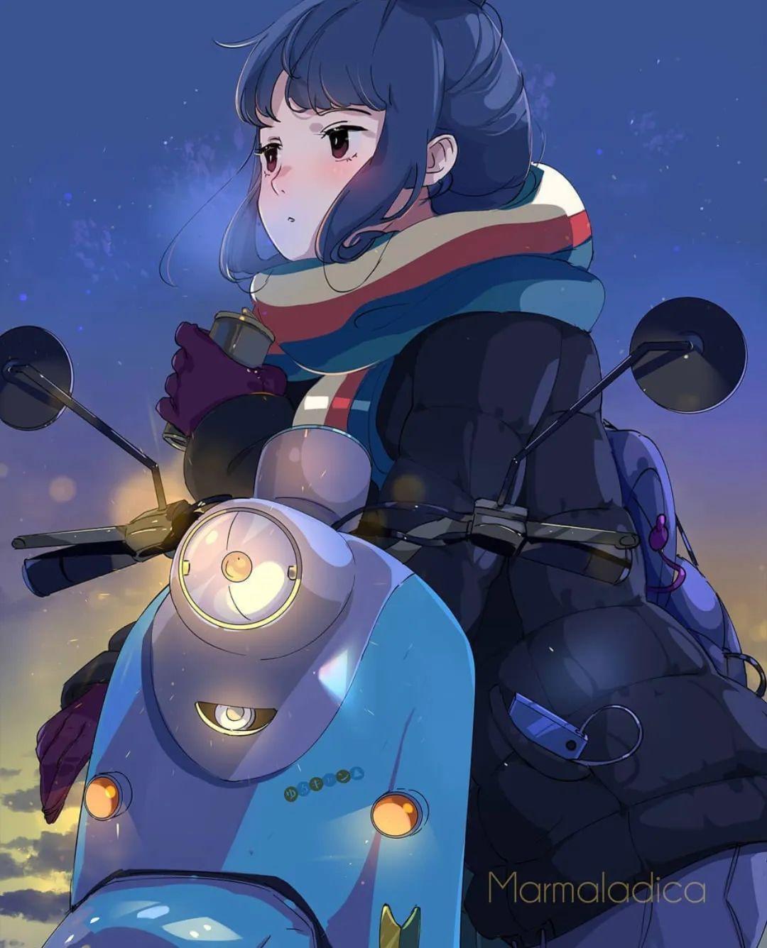 5月8日,二次元动漫女孩美图!骑摩托的少女_图片 No.4
