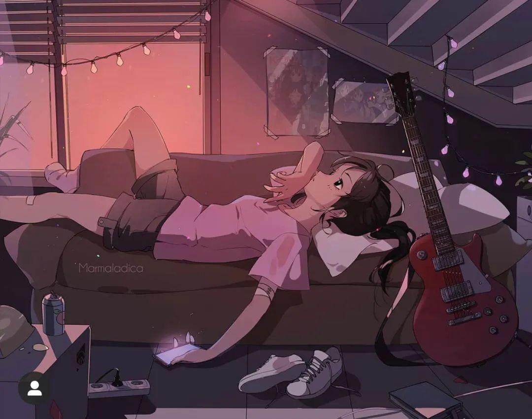 5月8日,二次元动漫女孩美图!骑摩托的少女_图片 No.11