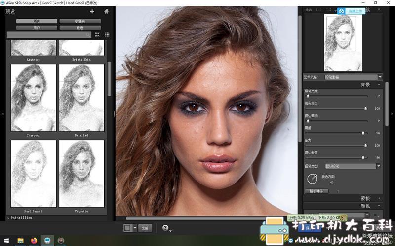 [Windows]Photoshop插件:【真人转素描】Alien Skin Snap Art 4.1.3.214 x64 中文汉化版图片 No.1