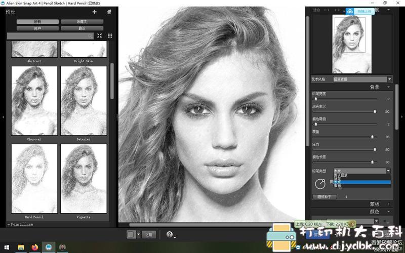 [Windows]Photoshop插件:【真人转素描】Alien Skin Snap Art 4.1.3.214 x64 中文汉化版图片 No.4