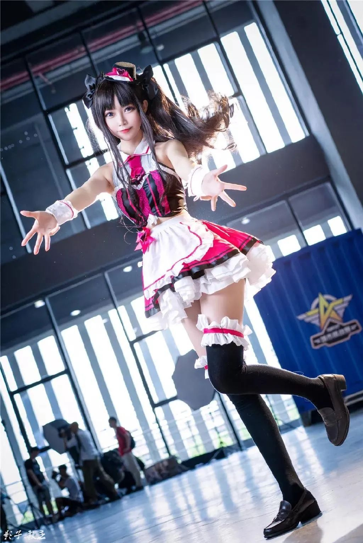 Cosplay—FGO 远坂凛(@大肉丸Amiee),这小裙子太好看了_图片 No.3