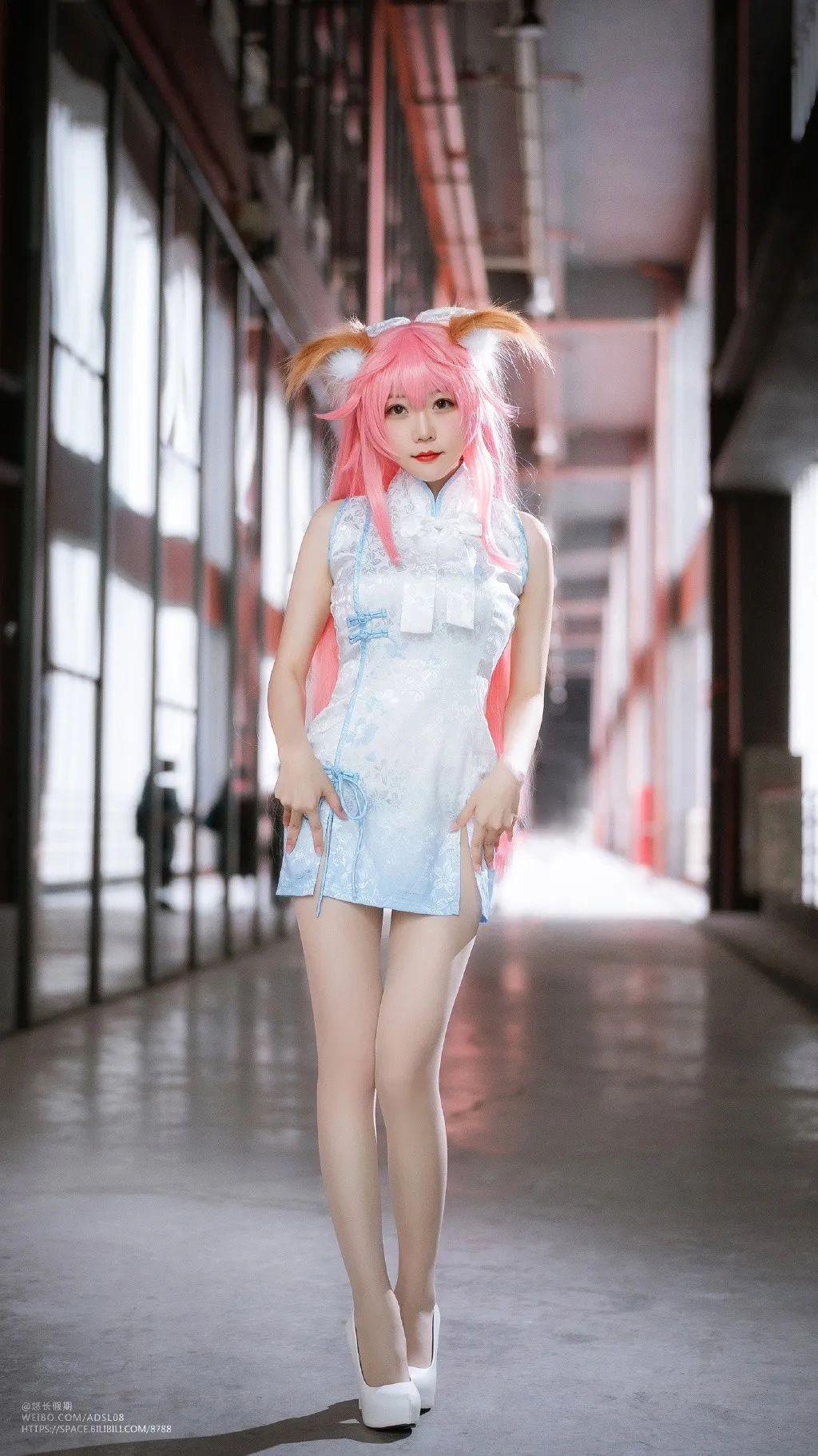 Cos—FGO 玉藻前(@香草喵露露),短款旗袍下这个腿子真是令人迷醉~ - [leimu486.com] No.8