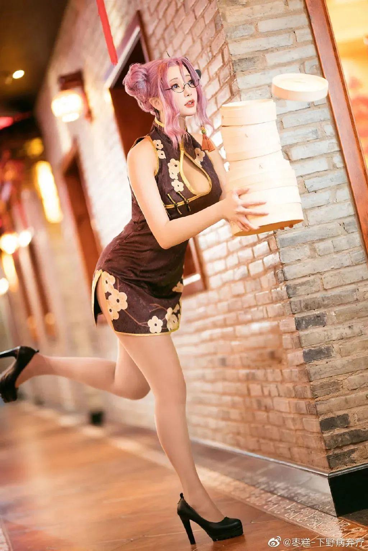 Cosplay—双生视界 沐恩,短款旗袍,肉丝高跟鞋_图片 No.3