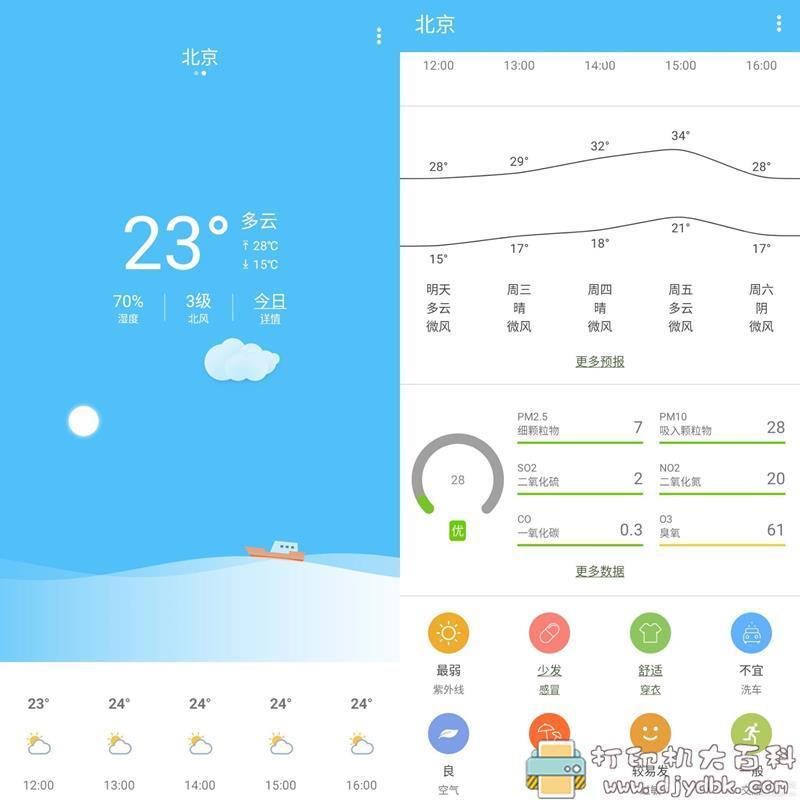 [Android]小米定制多亲天气 无广告超精简6MB图片