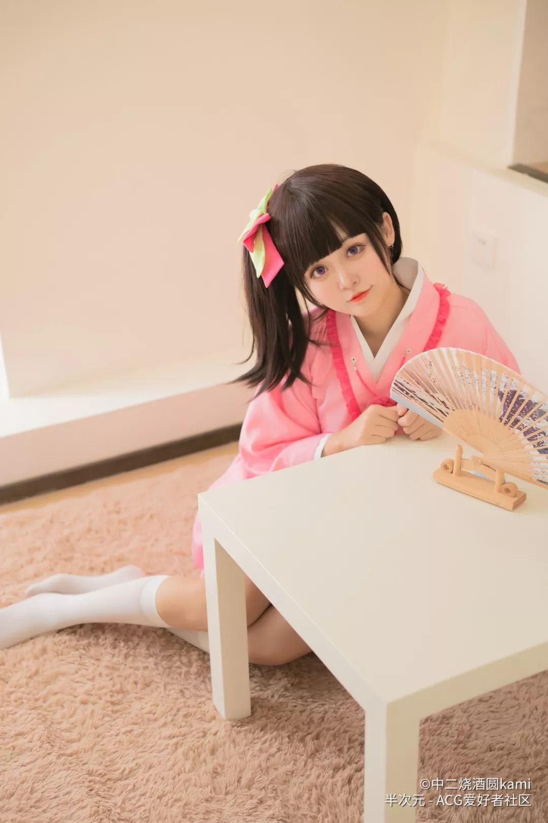 妹子摄影 – 双倍快乐!粉粉嫩嫩白丝袜汉服姐妹花_图片 No.15