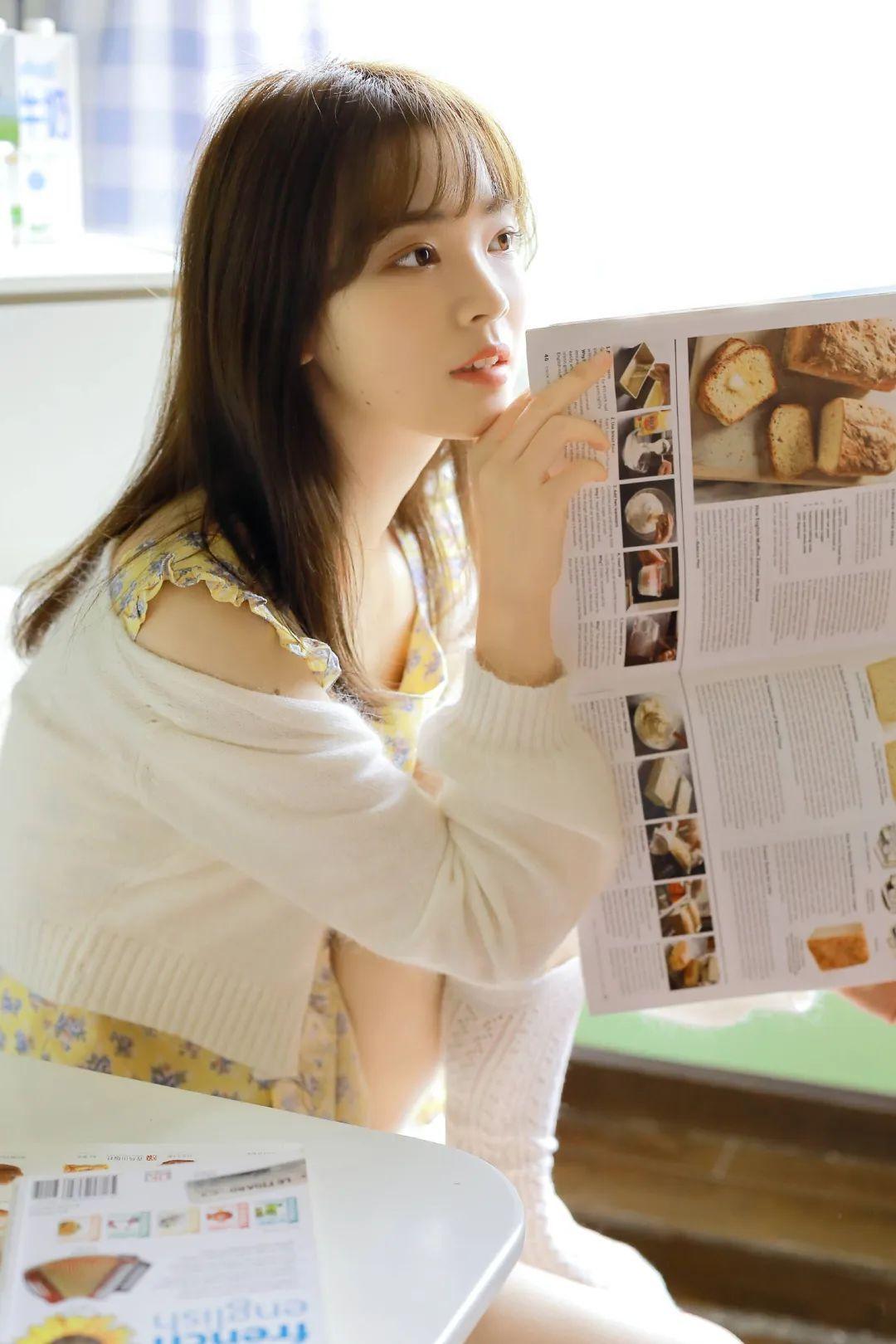 妹子摄影 – 青春少女白色小腿袜_图片 No.3