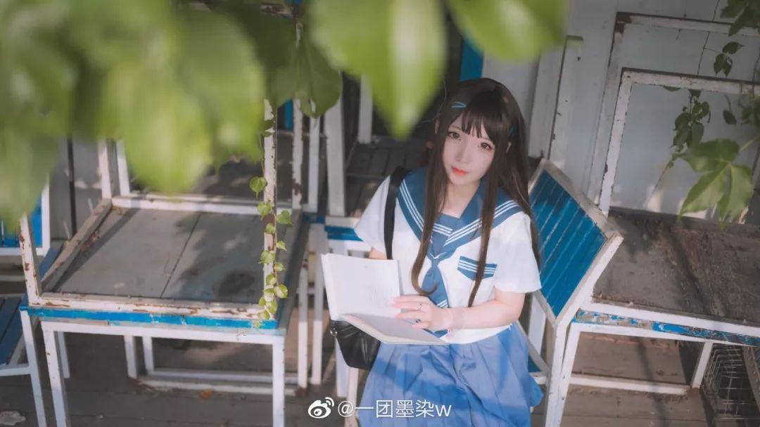 妹子摄影 – 白丝袜连衣裙少女和JK制服元气女孩_图片 No.12