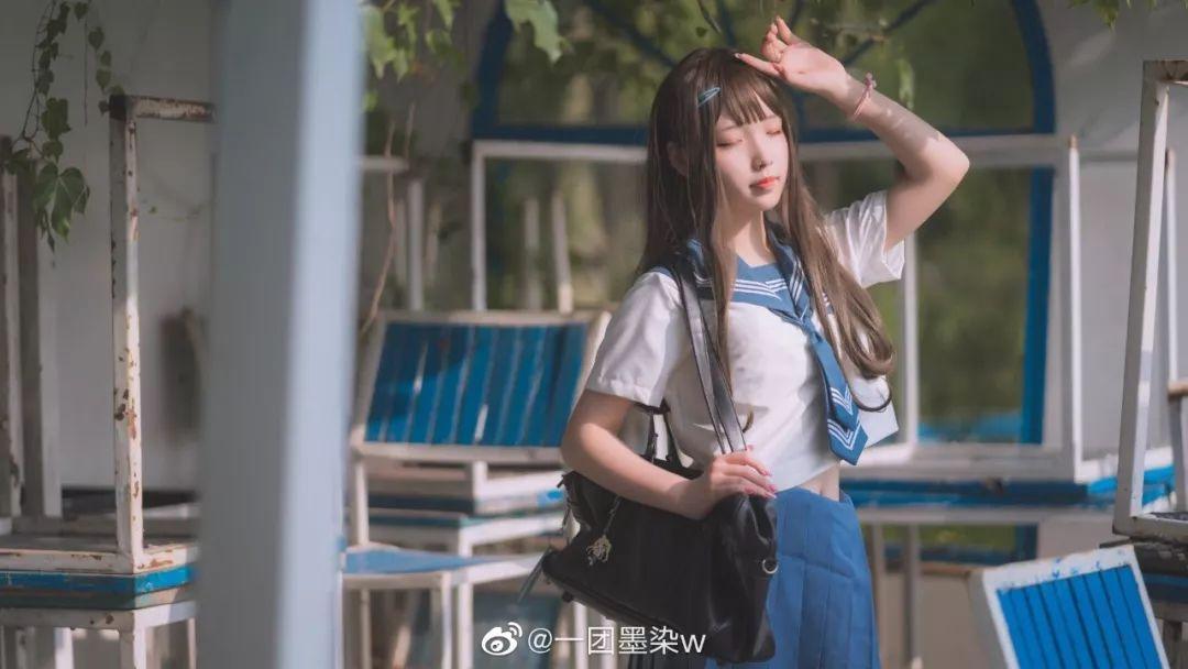 妹子摄影 – 白丝袜连衣裙少女和JK制服元气女孩_图片 No.14