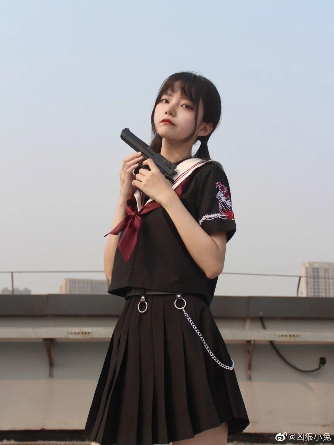 妹子摄影 – JK制服兽耳娘小姐姐+ 双马尾小姐姐_图片 No.8