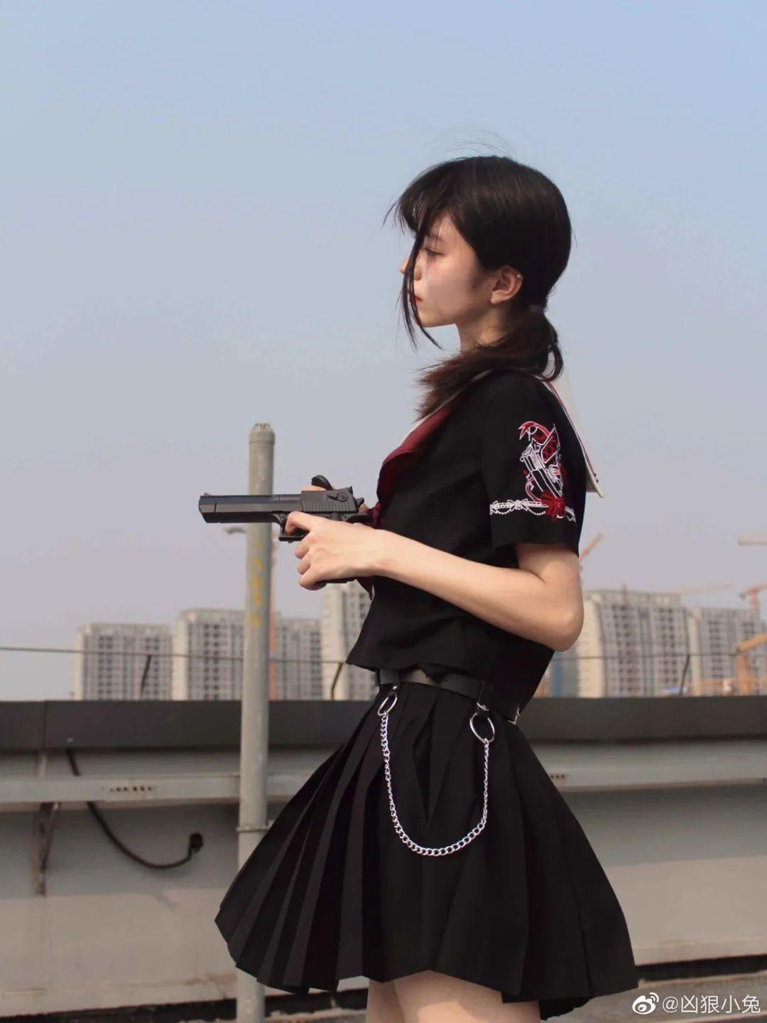 妹子摄影 – JK制服兽耳娘小姐姐+ 双马尾小姐姐_图片 No.13