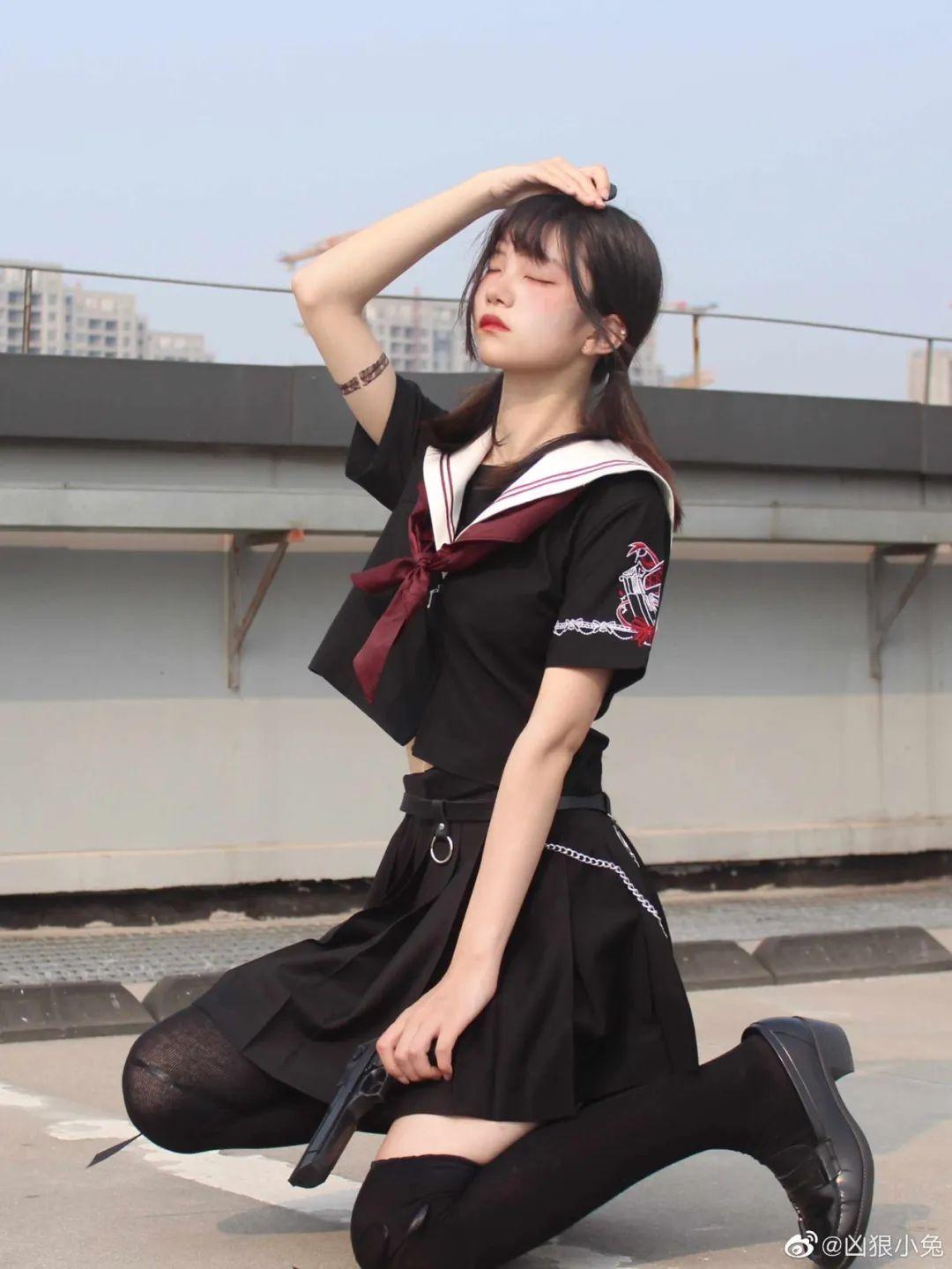 妹子摄影 – JK制服兽耳娘小姐姐+ 双马尾小姐姐_图片 No.15
